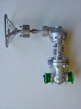 Special extended lever for DN50 neway gate valve.